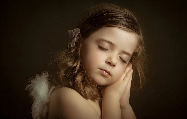 Картинка сон, портрет, девочка, Little Angels, Lucía