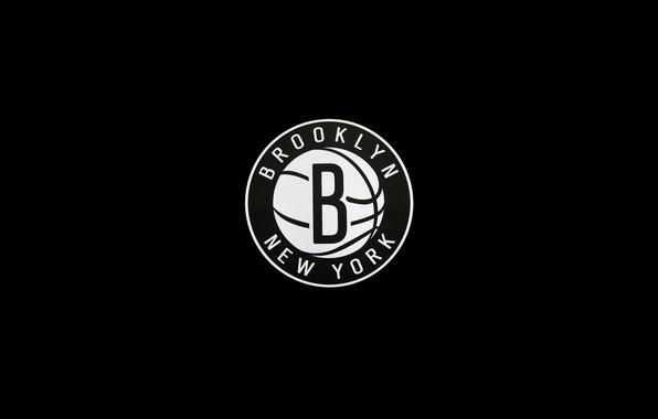 Картинка спорт, мяч, минимализм, логотип, черно-белое, sport, logo, америка, баскетбол, basketball, new york, usa, нью йорк, …