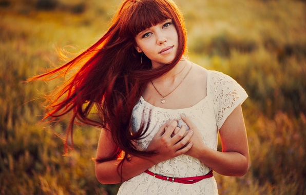 Картинка волосы, портрет, боке
