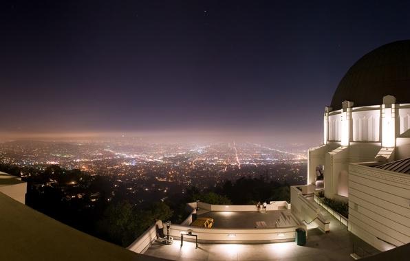 Картинка ночь, город, панорама