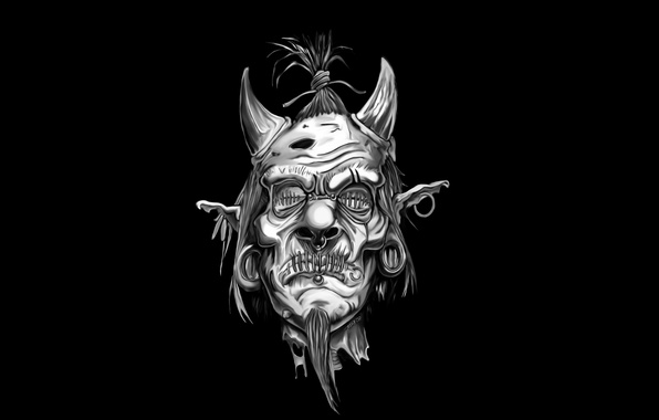 Картинка demon, horns, dead, couture, beheaded