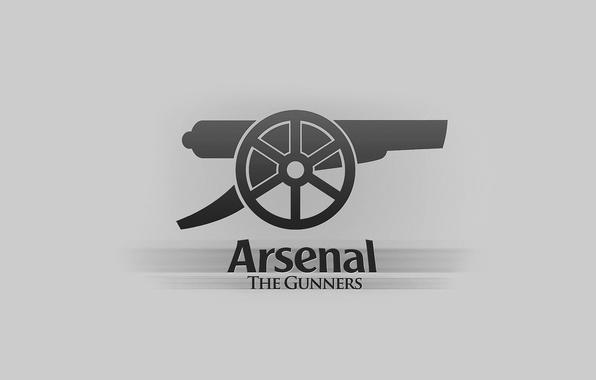 Картинка фон, надпись, логотип, эмблема, пушка, Арсенал, Arsenal, Football Club, канониры, The Gunners, футбольный клуб