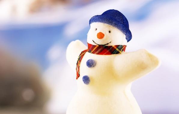 Фото обои игрушки, новый год, рождество, снеговик