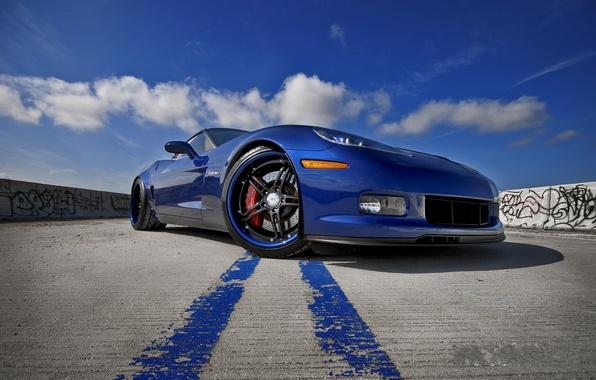 Картинка синий, Z06, Corvette, Chevrolet