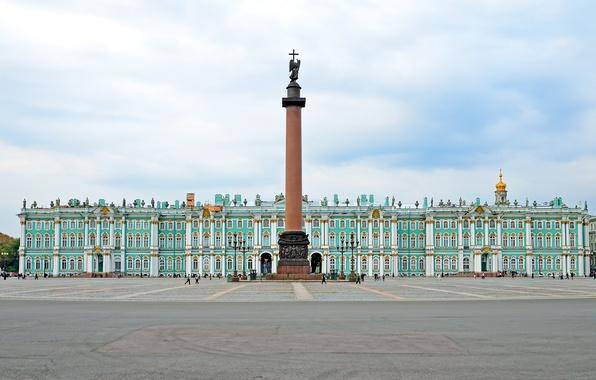 Картинка площадь, Санкт-Петербург, памятник, Россия, Зимний Дворец