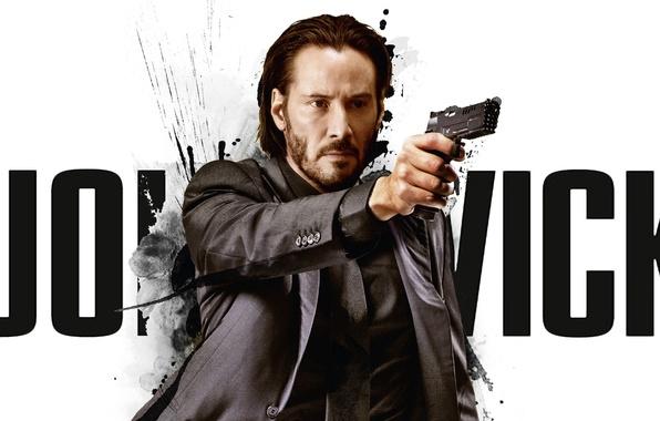 Картинка cinema, gun, pistol, hitman, actor, weapon, man, movie, assassin, film, Keanu Reeves, suit, martial artist, …