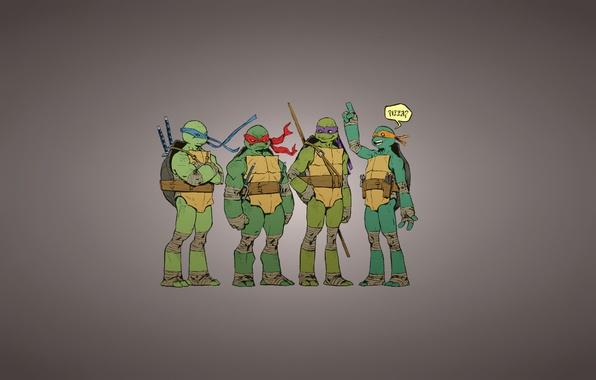Картинка надпись, Рафаэль, TMNT, pizza, Raphael, Leonardo, Donatello, Донателло, Леонардо, Микеланджело, Teenage Mutant Ninja Turtles, Michelangelo, …