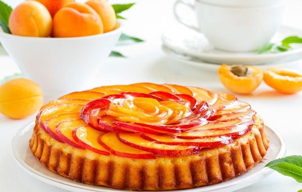 Картинка яблоки, еда, пирог, фрукты, десерт, выпечка, абрикосы
