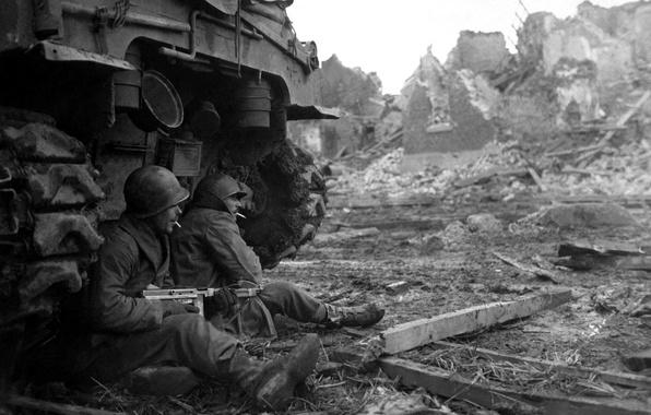 Картинка оружие, война, солдат, автомат, солдаты