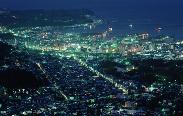Картинка город, япония, хоккайдо