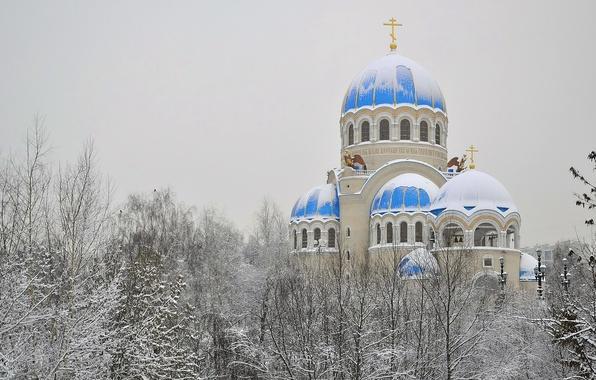 Картинка храм, купола, православие