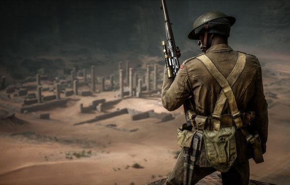 Картинка война, солдат, Electronic Arts, Battlefield 1