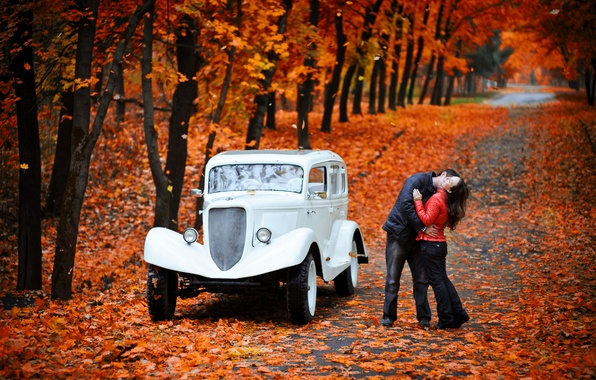 картинки поцелуй осени