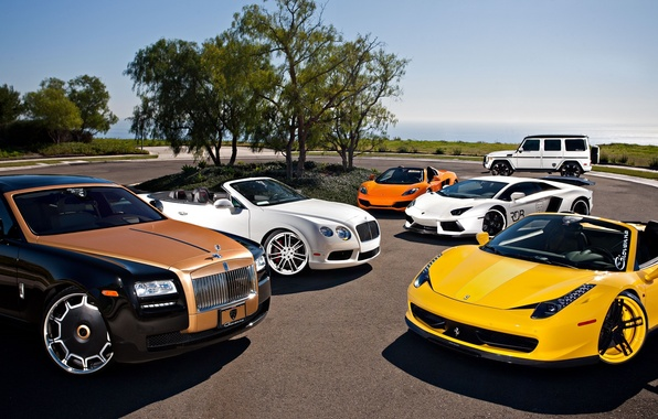 Картинка McLaren, Mercedes-Benz, Bentley, Continental, Lamborghini, Rolls-Royce, Ferrari, Ghost, Cars, 458, Vorsteiner, AMG, MP4-12C, Tuning, LP700-4, ...