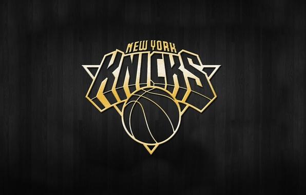 Картинка Баскетбол, Фон, Логотип, Золото, NBA, Knicks