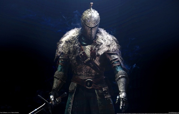 Картинка game, armor, background, warrior, knight, Dark Souls 2