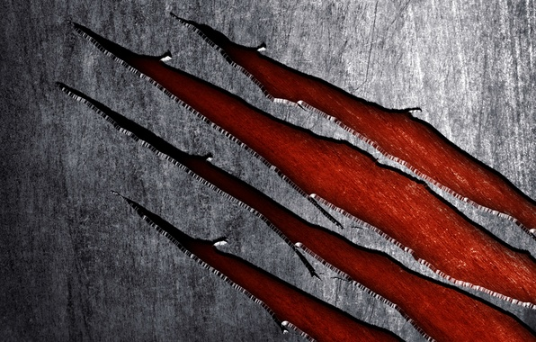 Картинка фон, текстура, царапины, росомаха, металлический