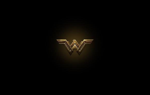 Картинка cinema, red, golden, logo, Wonder Woman, black, yellow, movie, letter, hero, Prince, film, DC Comics, …