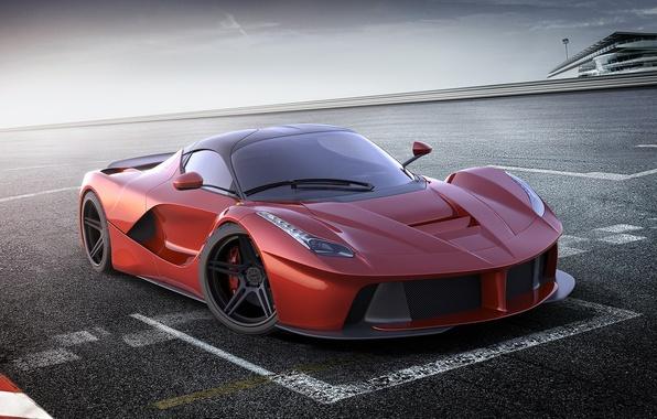 Картинка car, машина, авто, Феррари, Ferrari, суперкар, red, supercar, красная, racing, avto, LaFerrari, ЛаФеррари