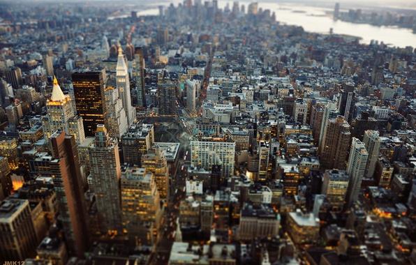 Картинка город, Нью-Йорк, США, Манхэттен, Нью Йорк, New York City, Tilt Shift, JMK Photography