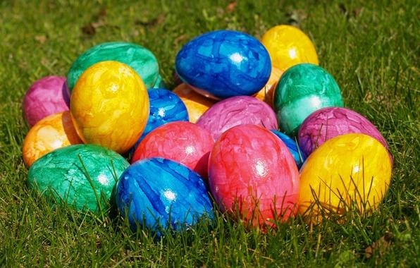 Картинка яйца, пасха, разноцветные