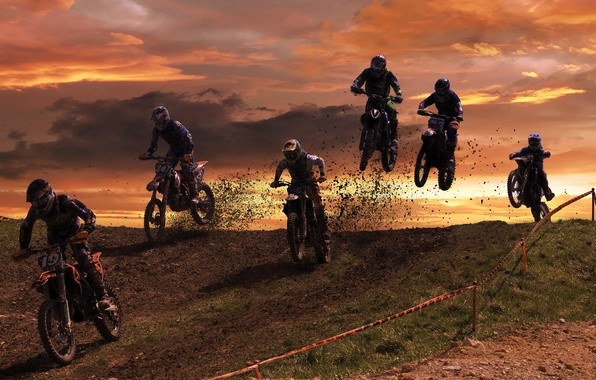 Картинка гонка, спорт, motocross