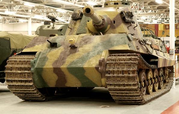"Картинка музей, немецкий, тяжёлый, ""Королевский тигр"", танк PzKpfw VI (Tiger II)"