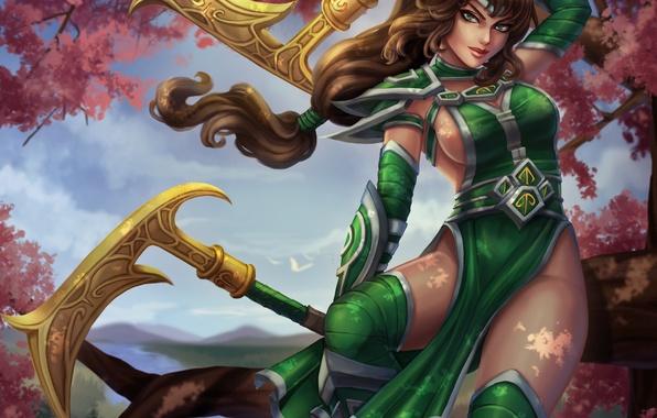 Картинка девушка, платье, красавица, art, Akali, League of Legends, moba, Fist of Shadow