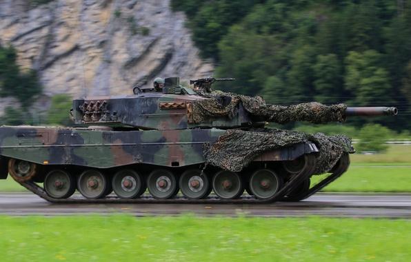Картинка скорость, танк, боевой, бронетехника, Leopard 2