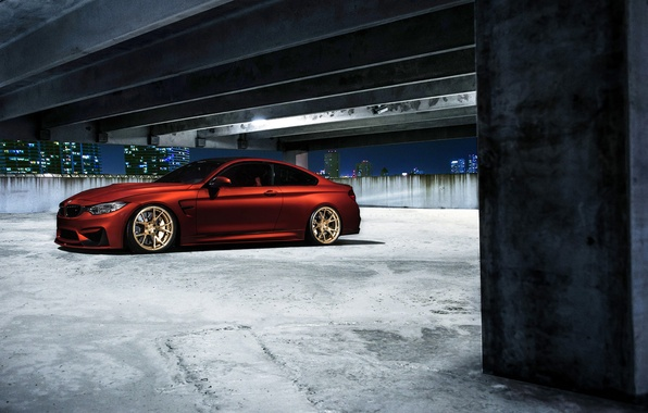 Картинка BMW, Orange, Car, Sport, Wheels, F82, VELOS