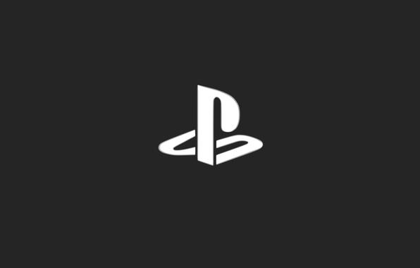 Картинка Серый, Фон, Логотип, Playstation, Sony Playstation, Консоль