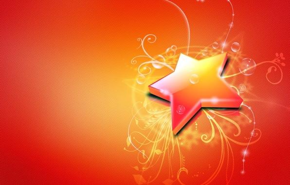Картинка линии, пузыри, Звезда