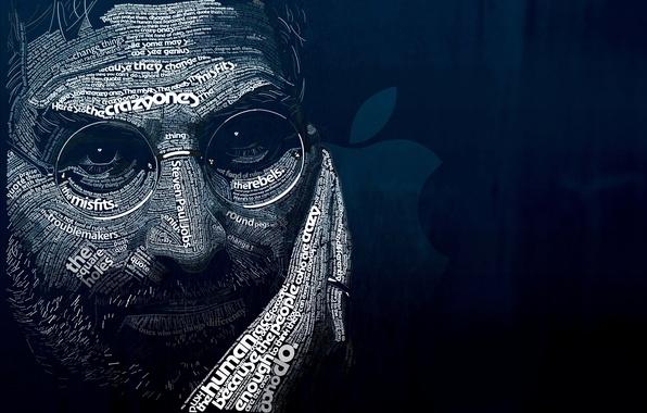 Картинка синий, буквы, фон, темный, ipod, apple, мужчина, iphone, black, слова, цитаты, background, words, man, ipad, …