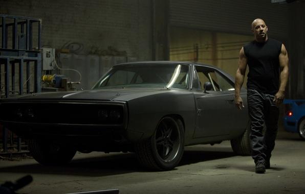 Картинка car, чёрный, актёр, black, додж, dodge, muscle, charger, 1970, fast five, vin diesel, вин дизель, …