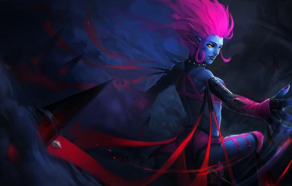 Картинка магия, кровь, убийца, lol, League of Legends, evelynn, Widowmaker
