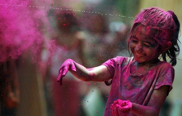 Картинка радость, радуга, фестиваль красок