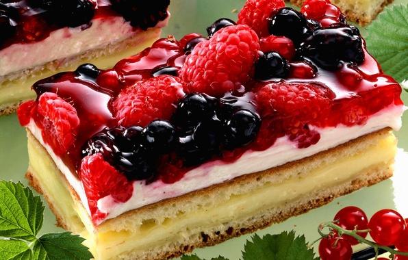 Картинка малина, еда, торт, пирожное, cake, крем, десерт, food, ежевика, сладкое, cream, dessert, blackberry, красная смородина, …
