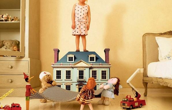 Картинка дети, настроение, куклы