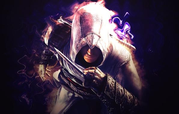 Картинка одежда, игра, доспехи, нож, капюшон, кинжал, Assassins Creed, game, шпион, Ubisoft, assassin's creed, assasin, ассасин, …