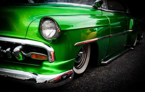 Картинка ретро, Chevrolet, автомобиль, классика, 1954, Chevy