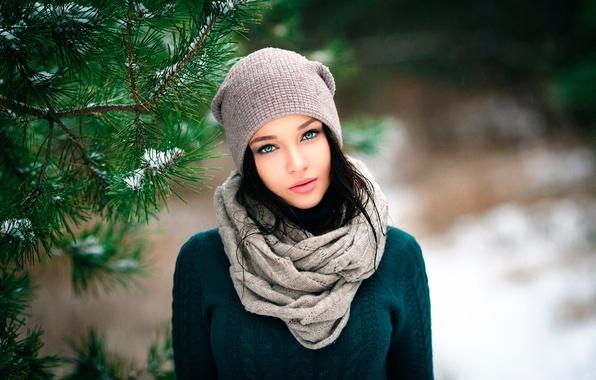 Картинка прелесть, шапочка, Ангелина Петрова, Денис Петров, Winter girl