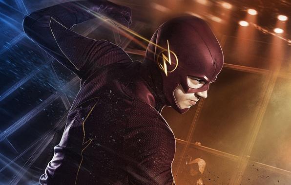 Картинка фантастика, костюм, сериал, супергерой, Флэш, The Flash, Grant Gustin, Грант Гастин, Barry Allen