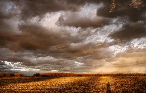Картинка облака, Поле, тень