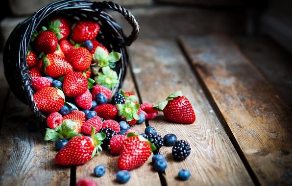 Картинка ягоды, малина, черника, клубника, ежевика, strawberry, blueberry, berries, raspberry, BlackBerry