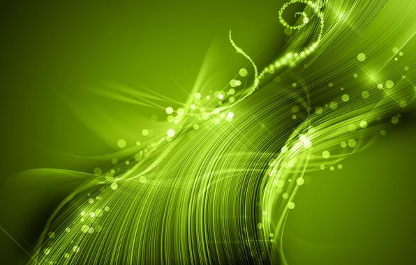 Картинка свет, абстракция, зелёный