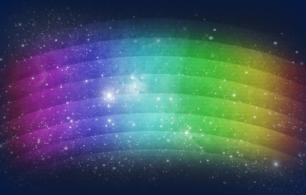 Картинка космос, звезды, свет, абстракция, узоры, краски, радуга, colors, точки, space, light, rainbow, patterns, stars, abstraction, …