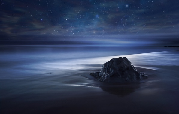 Картинка небо, звезды, океан
