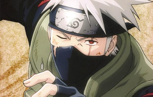 Картинка рука, повязка, Naruto, шрам, sharingan, ninja, sensei, Kakashi Hatake