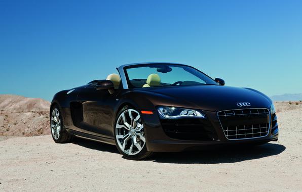 Картинка Audi r8, cars, auto, 2011, Spyder, обои авто, V10, 5.2, Audi R8 Spyder, wallpapers cars, ...