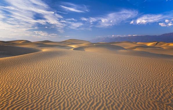 Картинка desert, mountain, sand, dunes, death valley